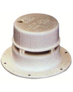 """Plastic Vent Cap White - Plastic Plumbing Vents For 1-1/2"""" Vent Pipe"""