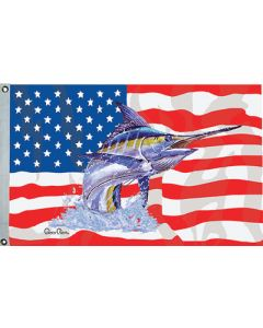 "Taylor Made, US/Blue Marlin Flag, 36"" x 60"", Fishing Flags"