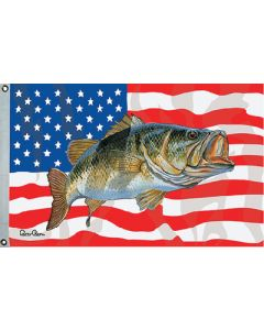 """Taylor Made, US/Bass Flag, 36"""" x 60"""", Fishing Flags"""