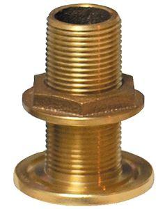 "Groco Thru-Hull Fitting With Nut, 1/2"" Nps, Bronze"