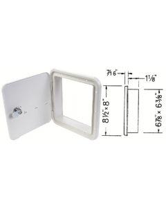 JR Products Locking Hatch Polar White - Multi-Purpose Hatch W/O Back