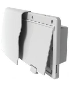 JR Products 1.5In Flange White Range Vent - Endura Range Vent