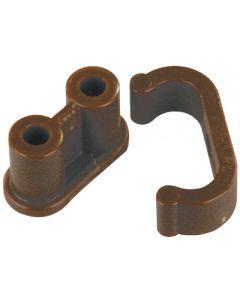JR Products Cabinet Barrle W/Ny Clip - Barrel Catch W/Nylon Clip