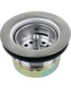 JR Products 1-1/2In Lvtory Snk Strnr Chrom - Strainer W/Push-In Basket
