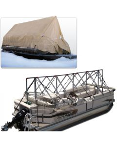 Navigloo Boat Shelter for 23 ft. - 24 ft . Pontoon Boats (Covers Motor)