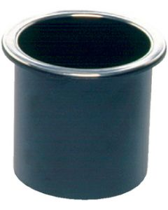 Beckson, Glass Holder Black W/Chrome Rim, Recessed Cup Holders