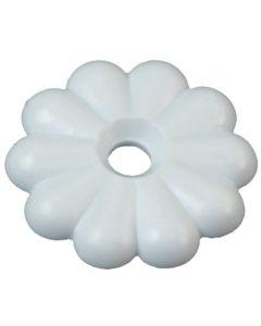 RV Designer Rosette Washer #6 White 14Pk