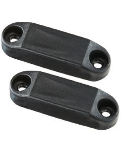 RV Designer Magnetic Catch Set Black 2/Pk