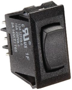 RV Designer Switch-Rockr 10A On-Off-On Blk