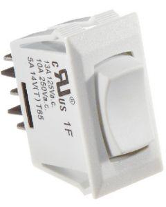 RV Designer Switch-Rockr 10A On-Off-On Wht
