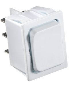 RV Designer Switch-Rocker 5A On-Off-On Wht