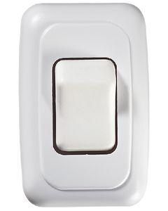 RV Designer Switch-Wall Sgl On-Off White