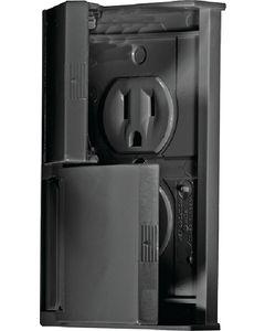 RV Designer Outlet Dual W-Cvr Black