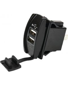 SeaDog 426520 Double USB 12V to 24V Input Rocker Switch Power Socket