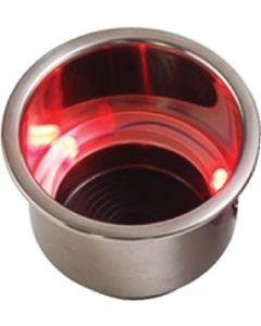 Seadog RED LED DRINK HOLDER W/DRAIN
