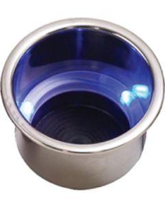 Seadog BLUE LED DRINK HOLDER W/DRAIN