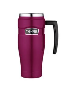 Thermos Stainless King Vacuum Insulated Travel Mug - 16 oz. - Stainless Steel/Raspberry