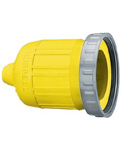 Hubbell HBL60CM33 Yellow Seal-Tite Cover for 26CM13 Connector Body