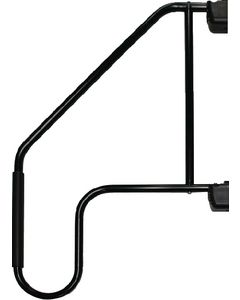 Hand Rail Blk W/ Low Loop Grip - Extended Lend-A-Hand Rail