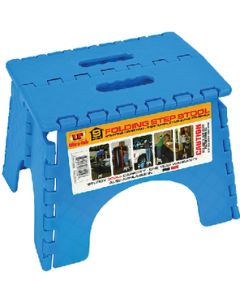 Step-9In Plastic Folding Blue - Folding Step Stool