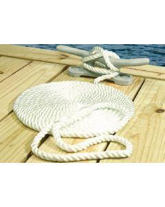 Seachoice Twisted Nylon Dock Line, White