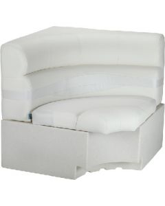 Lippert Platinum Series Pontoon Furniture, Square Corner, Dove Grey