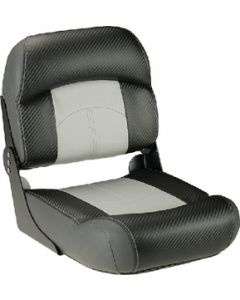 Lippert Low Back Fold Down Fishing Seat, Grey