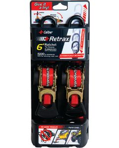 Caliber Tiedown-Retrac 6Ft 2/Pk