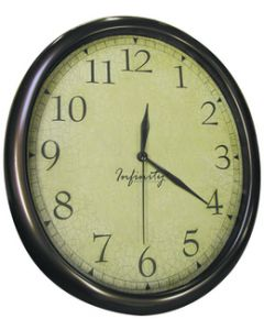 Manufacturers Select Oval Clock With Antiqued Back. - Oval Quartz Wall Clock