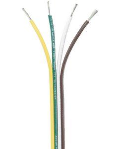 Ancor 16/4GA Flat Ribbon Wire, Brown/Green/White/Yellow, 100'
