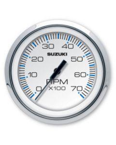 "Suzuki 4"" White Tachometer w/o Monitor Functions 99105-80100"