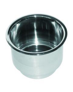 JIF Marine, LLC Jif Marine, Recessed Stainless Steel Cup Holder, Recessed Cup Holders