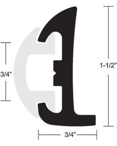 """Taco Marine Taco Semi-Rigid Rub Rail Kit 1-1/2"""" x 50'' Black with Black Insert"""