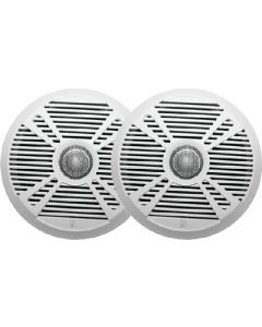 PolyPlanar MA7065 6.5 2-Way Marine Speaker w/2 Grills - White & Graphite
