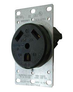 Valterra Receptacle W/ Plate Round 30A - 30A Receptacle With Plate