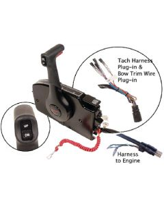 Quicksilver Side Mount Remote Control,  8 Pin Traditional W/ 20' Harness - Quicksilver 881170A20