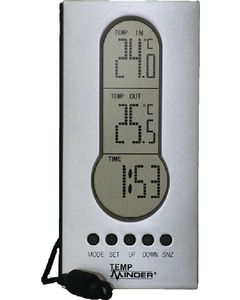 Fridge/Freezer Dig Thermometer - Tempminder&Reg; Wired Indoor/Outdoor Thermometer W/Clock