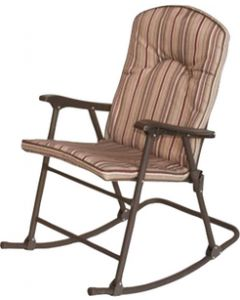Prime Products Cambria Pad.Rocker Chr. Red - Cambria Folding Padded Rocker Chair