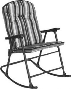 Prime Products Cambria Pad.Rock.Chr. Black - Cambria Folding Padded Rocker Chair
