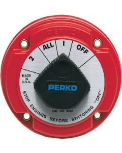 Perko Battery Switch with Alternator Field Disconnect without Lock