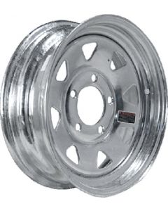 Loadstar Steel Spoke Trailer Wheel, 12x4JA, Galvanized, 4-4 20354