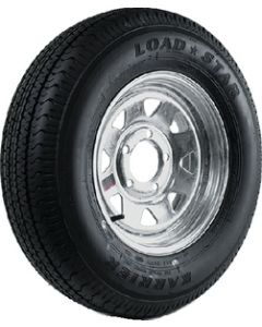 Loadstar Radial Tire and Wheel Assembly, ST185/80R-13, 5 Hole Galvanized Spoke, C Ply