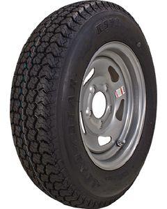 Loadstar Kenda KR03 Radial Tire w/ Directional Steel Wheel, Silver, ST205/75R-15, LRC, 5 on 4.5