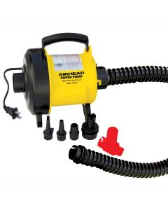 Airhead Super Pump; 120v inflate/deflate; with Pressure Release for over-inflate prevention