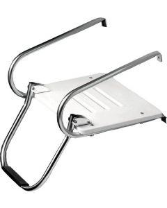 Whitecap Industries I/O White Poly Platform With Ladder Boat Swim Platforms