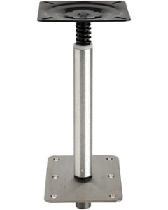 "Attwood Pedestal Set, 11"" Post, 6"" x 8"" SS Base, Non-Threaded"