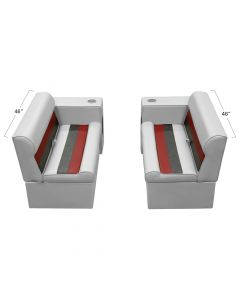 """Wise WS13530 Deluxe Pontoon 36"""" Bench and Arm Rest Set"""