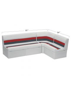 """Wise WS13580 Deluxe Pontoon - 55"""" Bench Back Rail Group"""
