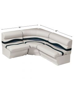 Wise WS14007 Premier Pontoon 8 ft Wide Rear Entry Group