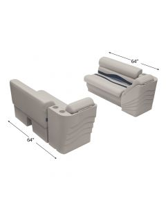 "Wise WS14028 Premier Pontoon 45"" Bench & Lean Back Set"